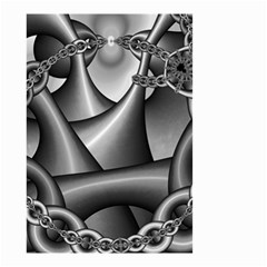 Grey Fractal Background With Chains Small Garden Flag (Two Sides)