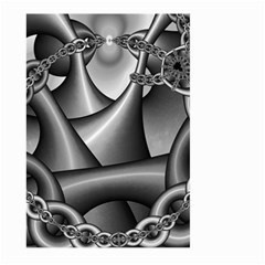 Grey Fractal Background With Chains Large Garden Flag (Two Sides)