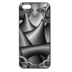 Grey Fractal Background With Chains Apple iPhone 5 Seamless Case (Black)