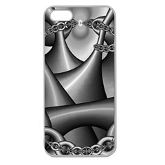 Grey Fractal Background With Chains Apple Seamless iPhone 5 Case (Clear)