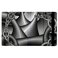 Grey Fractal Background With Chains Apple iPad 3/4 Flip Case