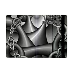 Grey Fractal Background With Chains Apple iPad Mini Flip Case