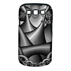 Grey Fractal Background With Chains Samsung Galaxy S III Classic Hardshell Case (PC+Silicone)