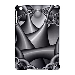 Grey Fractal Background With Chains Apple iPad Mini Hardshell Case (Compatible with Smart Cover)