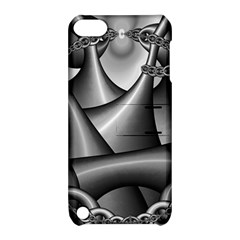 Grey Fractal Background With Chains Apple iPod Touch 5 Hardshell Case with Stand
