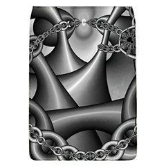 Grey Fractal Background With Chains Flap Covers (L)