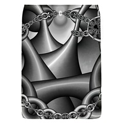 Grey Fractal Background With Chains Flap Covers (S)