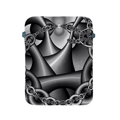 Grey Fractal Background With Chains Apple Ipad 2/3/4 Protective Soft Cases