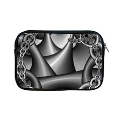 Grey Fractal Background With Chains Apple Ipad Mini Zipper Cases