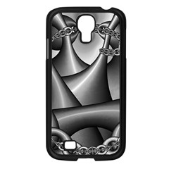 Grey Fractal Background With Chains Samsung Galaxy S4 I9500/ I9505 Case (Black)