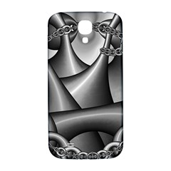 Grey Fractal Background With Chains Samsung Galaxy S4 I9500/I9505  Hardshell Back Case