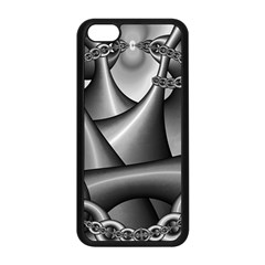 Grey Fractal Background With Chains Apple iPhone 5C Seamless Case (Black)