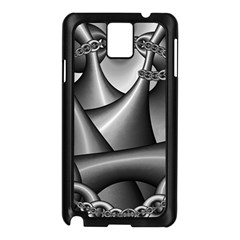 Grey Fractal Background With Chains Samsung Galaxy Note 3 N9005 Case (Black)