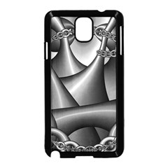 Grey Fractal Background With Chains Samsung Galaxy Note 3 Neo Hardshell Case (Black)