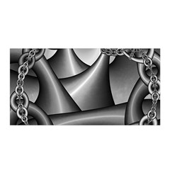 Grey Fractal Background With Chains Satin Wrap