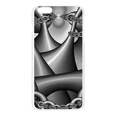 Grey Fractal Background With Chains Apple Seamless iPhone 6 Plus/6S Plus Case (Transparent)