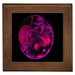 Fractal Using A Script And Coloured In Pink And A Touch Of Blue Framed Tiles