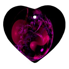 Fractal Using A Script And Coloured In Pink And A Touch Of Blue Ornament (heart)