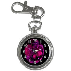 Fractal Using A Script And Coloured In Pink And A Touch Of Blue Key Chain Watches
