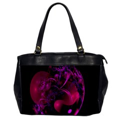 Fractal Using A Script And Coloured In Pink And A Touch Of Blue Office Handbags