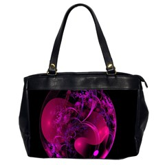 Fractal Using A Script And Coloured In Pink And A Touch Of Blue Office Handbags (2 Sides)