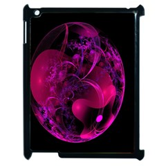 Fractal Using A Script And Coloured In Pink And A Touch Of Blue Apple iPad 2 Case (Black)