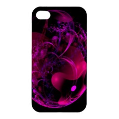 Fractal Using A Script And Coloured In Pink And A Touch Of Blue Apple iPhone 4/4S Hardshell Case