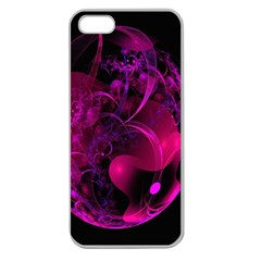 Fractal Using A Script And Coloured In Pink And A Touch Of Blue Apple Seamless Iphone 5 Case (clear)