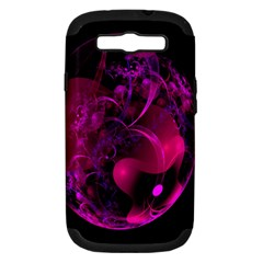 Fractal Using A Script And Coloured In Pink And A Touch Of Blue Samsung Galaxy S III Hardshell Case (PC+Silicone)