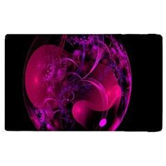 Fractal Using A Script And Coloured In Pink And A Touch Of Blue Apple iPad 2 Flip Case