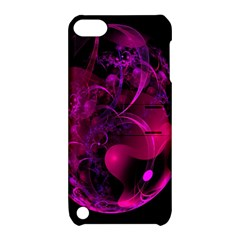 Fractal Using A Script And Coloured In Pink And A Touch Of Blue Apple iPod Touch 5 Hardshell Case with Stand