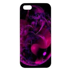 Fractal Using A Script And Coloured In Pink And A Touch Of Blue Apple iPhone 5 Premium Hardshell Case
