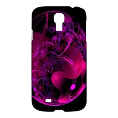 Fractal Using A Script And Coloured In Pink And A Touch Of Blue Samsung Galaxy S4 I9500/i9505 Hardshell Case