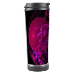 Fractal Using A Script And Coloured In Pink And A Touch Of Blue Travel Tumbler