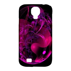 Fractal Using A Script And Coloured In Pink And A Touch Of Blue Samsung Galaxy S4 Classic Hardshell Case (PC+Silicone)