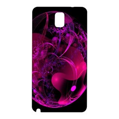 Fractal Using A Script And Coloured In Pink And A Touch Of Blue Samsung Galaxy Note 3 N9005 Hardshell Back Case