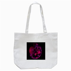 Fractal Using A Script And Coloured In Pink And A Touch Of Blue Tote Bag (white)
