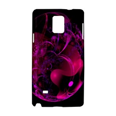 Fractal Using A Script And Coloured In Pink And A Touch Of Blue Samsung Galaxy Note 4 Hardshell Case