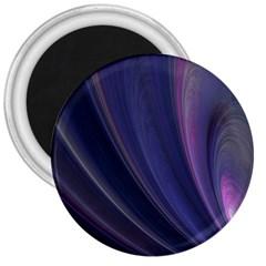 A Pruple Sweeping Fractal Pattern 3  Magnets