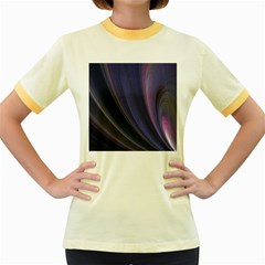 A Pruple Sweeping Fractal Pattern Women s Fitted Ringer T Shirts
