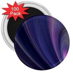 A Pruple Sweeping Fractal Pattern 3  Magnets (100 pack)