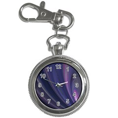 A Pruple Sweeping Fractal Pattern Key Chain Watches