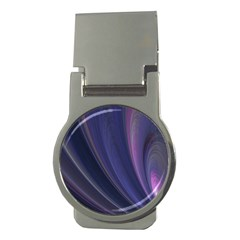 A Pruple Sweeping Fractal Pattern Money Clips (round)