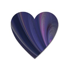 A Pruple Sweeping Fractal Pattern Heart Magnet