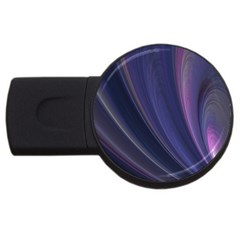 A Pruple Sweeping Fractal Pattern Usb Flash Drive Round (2 Gb)