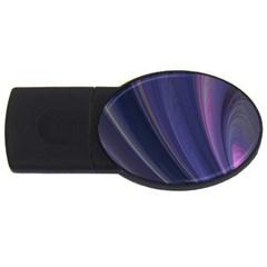 A Pruple Sweeping Fractal Pattern Usb Flash Drive Oval (4 Gb)