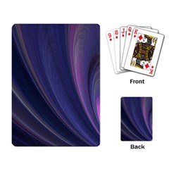 A Pruple Sweeping Fractal Pattern Playing Card