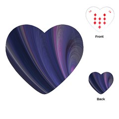 A Pruple Sweeping Fractal Pattern Playing Cards (heart)