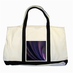 A Pruple Sweeping Fractal Pattern Two Tone Tote Bag
