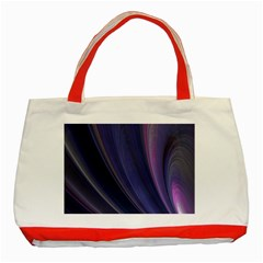 A Pruple Sweeping Fractal Pattern Classic Tote Bag (red)